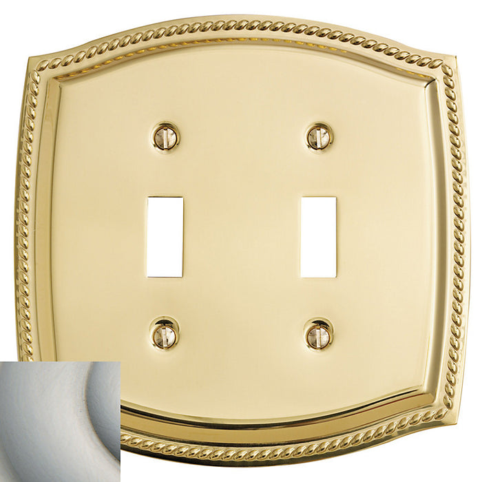 Baldwin 4790 Double Toggle Rope Switch Plate - Barzellock.com