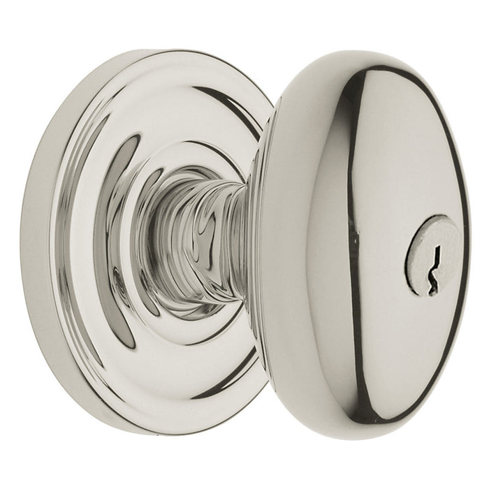 Baldwin 5225 Egg Knob Emergency Egress Keyed Entry Vintage Brass Finish - Barzellock.com