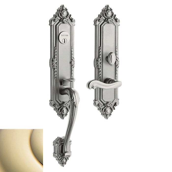 Baldwin 6526 Left Hand Kensington Single Cylinder Entry Mortise Trim - Barzellock.com
