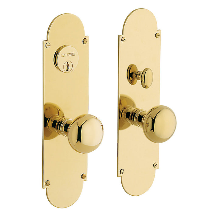 Baldwin 6555 Boston Single Cylinder Entry Mortise Trim - Barzellock.com