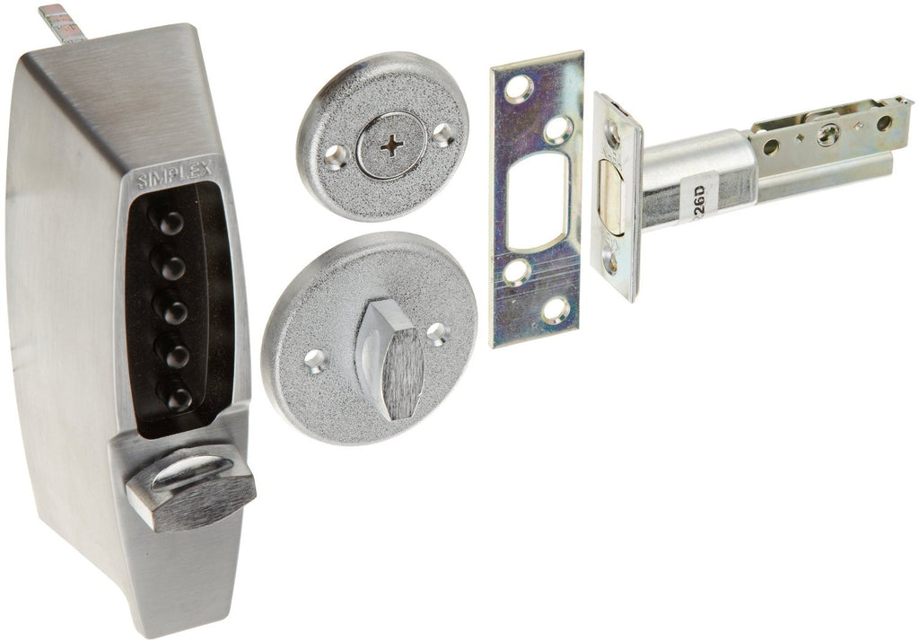 Kaba Simplex 7102 Metal Mechanical Pushbutton Auxiliary Lock with Thumbturn  Shabbos Lock