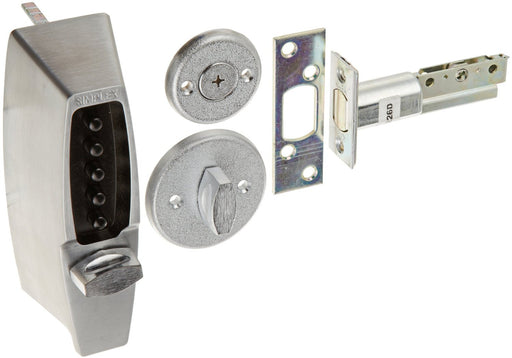 Kaba Simplex 7102 Metal Mechanical Pushbutton Auxiliary Lock with Thumbturn Shabbos Lock - Barzellock.com