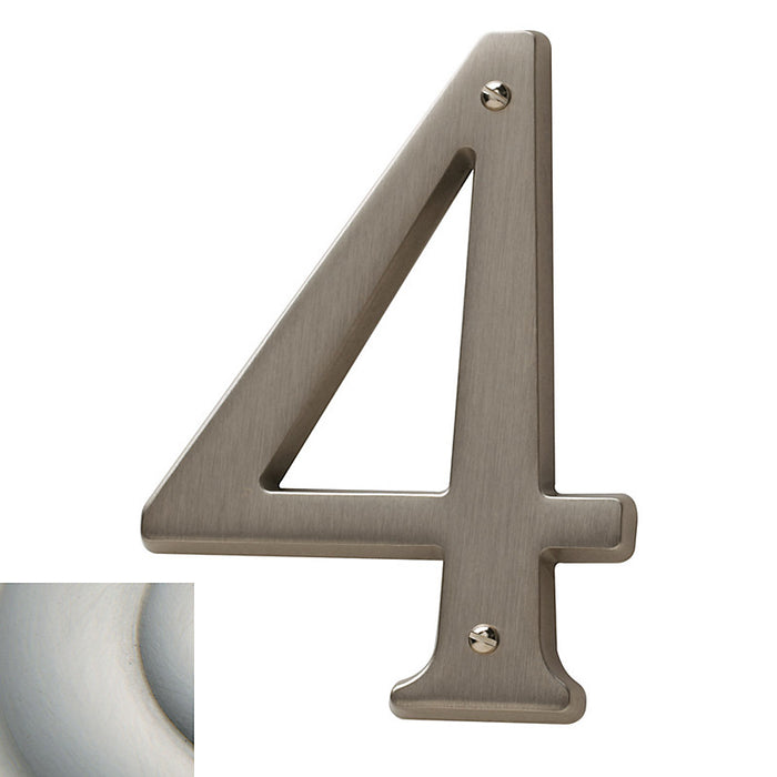 "Baldwin 90674 4.75"" Carded House Number # 4"
