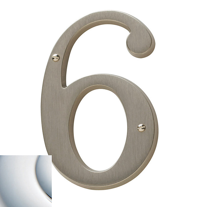 "Baldwin 90676 4.75"" Carded House Number # 6"