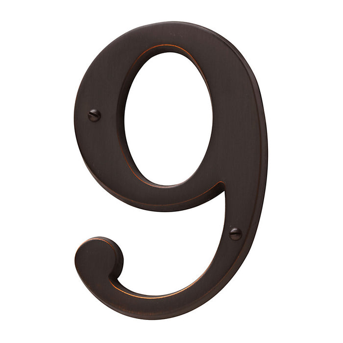 "Baldwin 90679 4.75"" Carded House Number # 9"