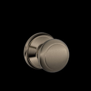 Schlage Andover Knob Antique Pewter