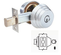 Arrow E61 Single Cylinder Deadbolt Grade 2 - Barzellock.com