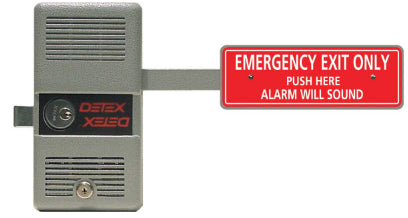 Detex ECL-230D & ECL-230D-PH Battery Alarmed Deadbolt Panic Device