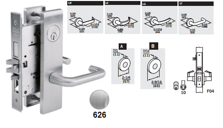 Dorma M9050 Office Entry Mortise Lever Lock Barzellock Com