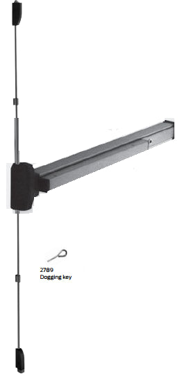 Falcon 19-V EO Reversible Vertical Rod Exit Device With Fire Option - Barzellock.com