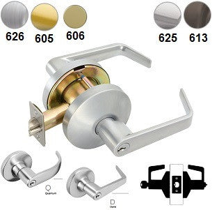 Falcon B511 Entry/Office Lever Lock - Barzellock.com