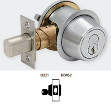 Falcon D221 Single Cylinder x Rose Grade 2 Deadbolt - Barzel Lock