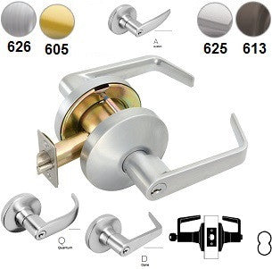 Falcon T501 Entry Lever Lock-D,Q,& A Levers