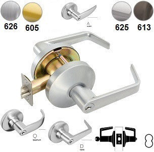 Falcon T511 Entry/Office Lever Lock-D,Q,& A Levers