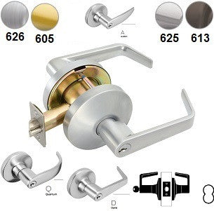 Falcon T561 Office Classroom Lever Lock-D,Q,& A Levers
