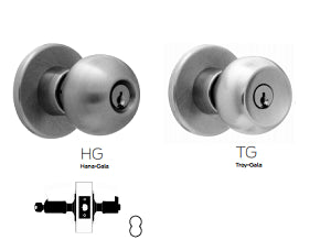 Falcon X511 Entry or Office Knob Lock - Barzellock.com