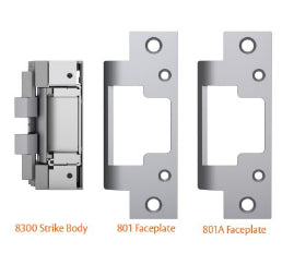Hes 8300C Fire Rated Concealed for Cylindrical Locks Electric Strike 630 - Barzellock.com