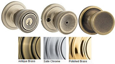 Kwikset Abbey Door Knob Passage, Privacy, Single Dummy, Entrance - Barzellock.com