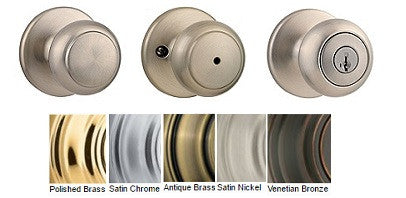 Kwikset Cove Passage Privacy Dummy & Entrance Door Knobs - Barzellock.com