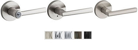 Kwikset Montreal Lever With Round Rose Lock Passage, Privacy, Entrance & Dummy