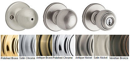 Kwikset Polo Passage Privacy Dummy Entrance & Storeroom Door Knobs - Barzellock.com