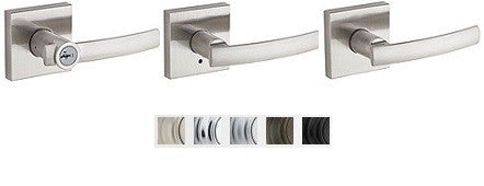 Kwikset Sydney Lever With Square Rose Lock Passage, Privacy, Entrance & Dummy - Barzellock.com