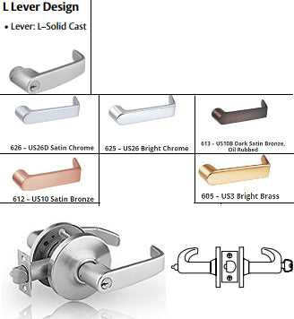 Sargent 65G05 Entrance or Office Lever Locks