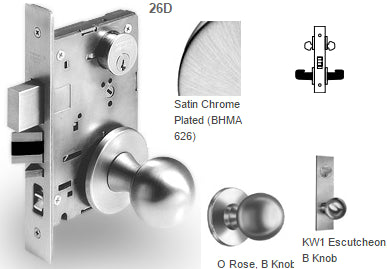Sargent 7817 Asylum or Institutional Mortise Knob Lock