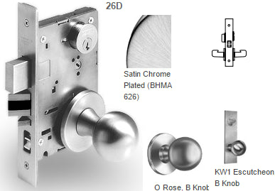 Sargent 7865 Privacy Bath/Bedroom Mortise Knob Lock