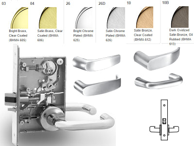 Sargent 8215 Passage or Closet Mortise Lever Lock