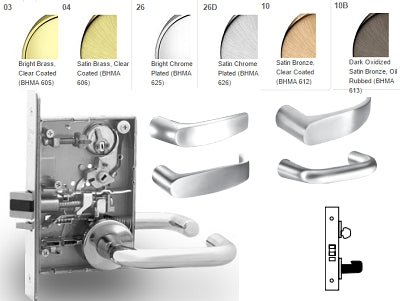 Sargent 8231 Utility Mortise Lever Lock