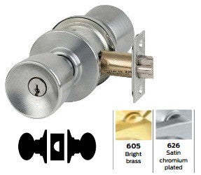 Schlage A10 Passage Latch Tulip Knob Lock A Series