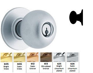 Schlage A170 Single Dummy Orbit Knob Lock A Series
