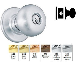 Schlage A25D Exit Plymouth Knob Lock A Series