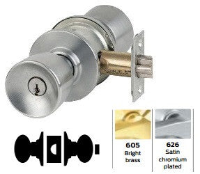 Schlage A40 Bath/Bedroom/Privacy Tulip Knob Lock A Series
