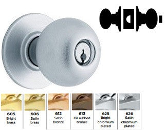 Schlage A40 Bath/Bedroom/Privacy Orbit Knob Lock A Series