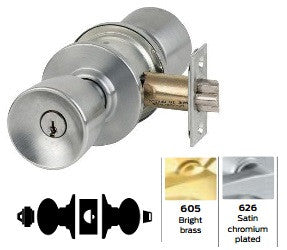 Schlage A53 Entrance Tulip Knob Lock A Series