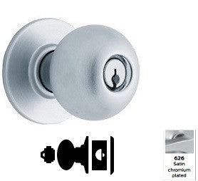 Schlage A79 Communicating lock with blank plate Orbit Knob Lock A Series - Barzellock.com