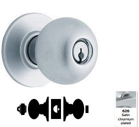 Schlage A85 Faculty Restroom Orbit Knob Lock A Series