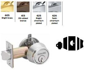Schlage B250 Single Cylinder Deadlatch - Barzellock.com