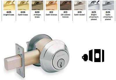 Schlage B661 One Way Deadbolt - Barzellock.com