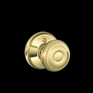 Schlage Georgian Knob Bright Brass