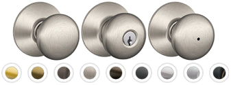 Schlage F10 Plymouth Knob Passage, Privacy, Entrance, Dummy - Barzellock.com