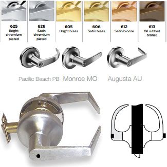 Yale 5402LN Privacy, Bedroom or Bath Lever Lock - Barzellock.com