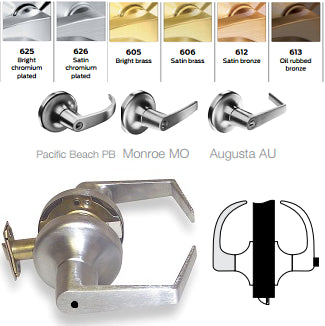 Yale 5403LN Patio or Privacy Lever Lock - Barzellock.com