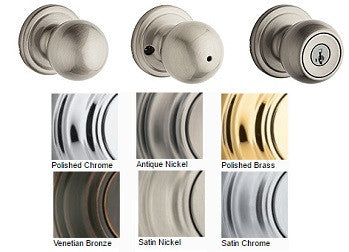 Kwikset Circa Door Knob Passage, Privacy, Single Dummy, Entrance - Barzellock.com