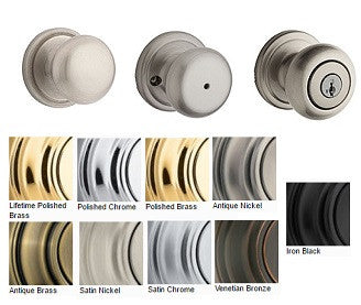 Kwikset Hancock Passage Privacy Dummy & Entrance Door Knobs - Barzellock.com