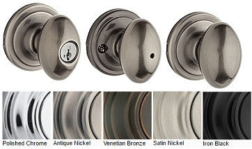 Kwikset Laurel Door Knob Passage, Privacy, Single Dummy, Entrance - Barzellock.com