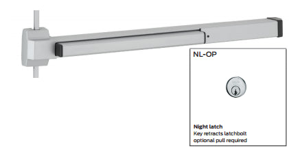 Von Duprin 2227NL-OP, 2227NL-OP-Fire Rated Surface Verticle Rod Exit Device Von Duprin 22 Series