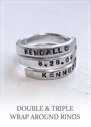 Double and triple wrap around rings